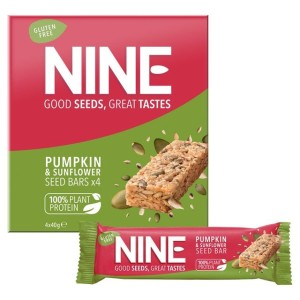 9 Nine Pumpkin & Sunflower Seed Bars Multipack 4 x 40g