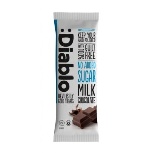 Diablo no added sugar milk chocolate 85g