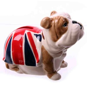 British Bulldog Union Jack Money Box
