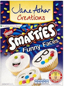 Jane Asher Smarties Funny Faces Fairy Cake Mix 239g