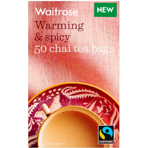 Waitrose Warming & Spicy 50 chai tea bags