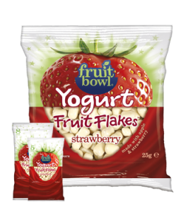 Fruit Bowl Yogurt Strawberry Fruit Flakes 25g pack