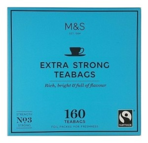 Marks & Spencer Extra Strong 160 Teabags No 3 Strong