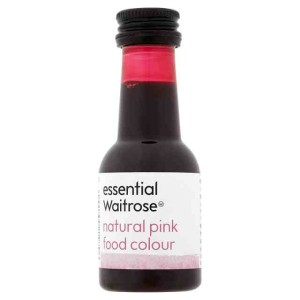 Natural Pink Food Colouring essential Waitrose 38ml