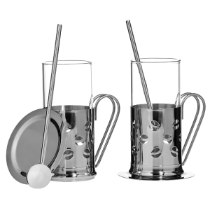 Premier Housewares Irish Coffee Stainless Steel Set of 2 Glasses