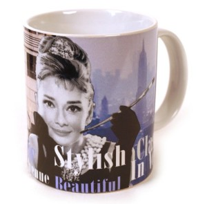 Audrey Hepburn Mug Breakfast At Tiffany's Gift Boxed