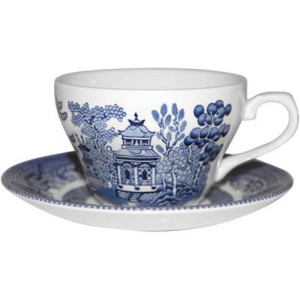 Churchill China Blue Willow Teacup & Saucer