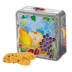 Churchill's Fruit and Vine Tin with Belgian Chocolate Biscuits 200g