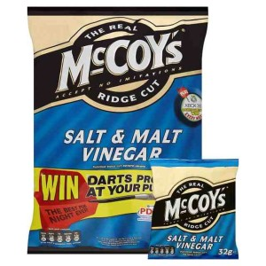 Mccoy's Ridge Cut Crisps Salt & Vinegar 6 x 27g
