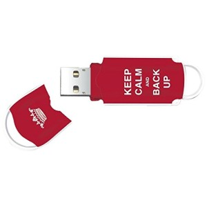 Integral Xpression Keep Calm 8GB USB Flash Drive - Red