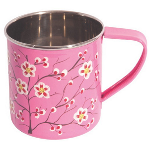 Ian Snow Hand Painted Stainless Steel Mug - Pink