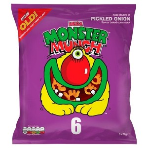 Mega Monster Munch Pickled Onion Snacks 6 x 22g