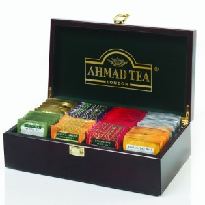 Tea Keeper Deluxe Wooden Caddy Chest Box - 80 Enveloped Tea Bags