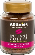 Beanies Amaretto Almond Instant Falvour Coffee 50g