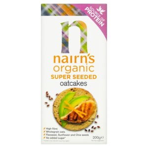 Nairns Organic Super Seeded Flaxseed, Chia & Sunflower Oatcakes 200g
