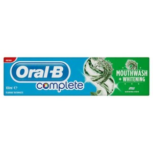 Oral-B Toothpaste Complete Mouthwash & Whitening 100ml