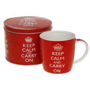 Keep Calm and Carry On Mug in a Gift Tin