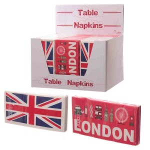 10 Paper Table Napkins - UK Design 33 x 33cm