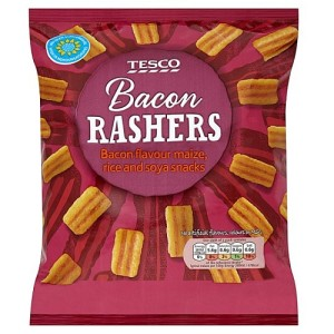 Tesco Bacon Rashers Snacks 150g