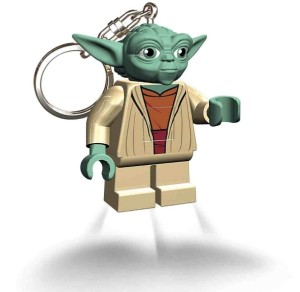Lego Lights Yoda Keyring with LED Light