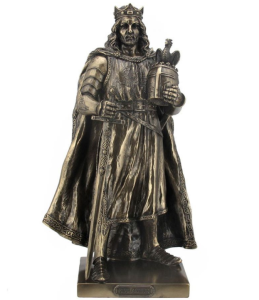 King Arthur Ornament with Bronze Plated Finish 27cm Tall
