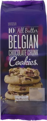 M&S 10 All Butter Belgian Chocolate Chunk Cookies 225g.png