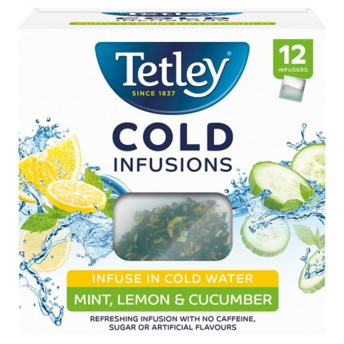 Tetley Cold Infusions Cucumber Mint & Lemon Teabags 12 per pack.jpg