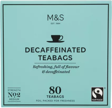 Marks & Spencer Decaffeinated Tea 80 Teabags.png