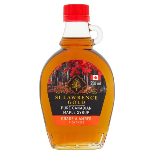 St Lawrence Gold Pure Canadian Maple Syrup Grade A Amber 250ml.jpg