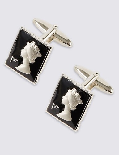 M&S COLLECTION  Stamp Cufflinks Black.jpg