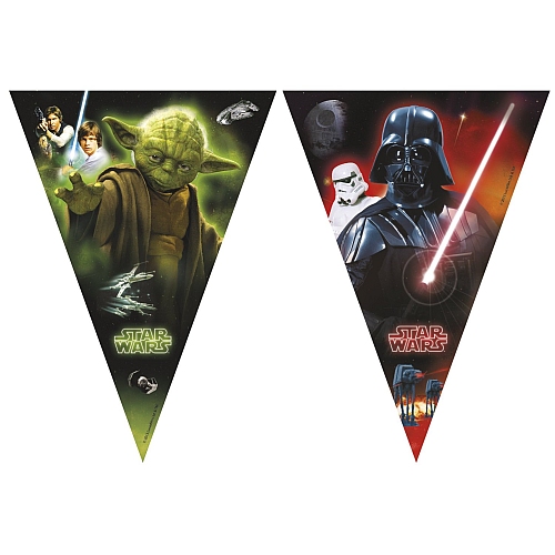 Star Wars Heroes and Villains Bunting Banner 2.3m.png