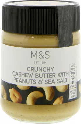 Marks & Spencer Crunchy Cashew Butter with Peanuts & Sea Salt 227g.png