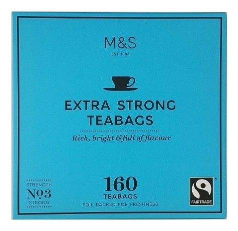 marks and spencer Extra strong tea 160 Teabags_burned.jpg