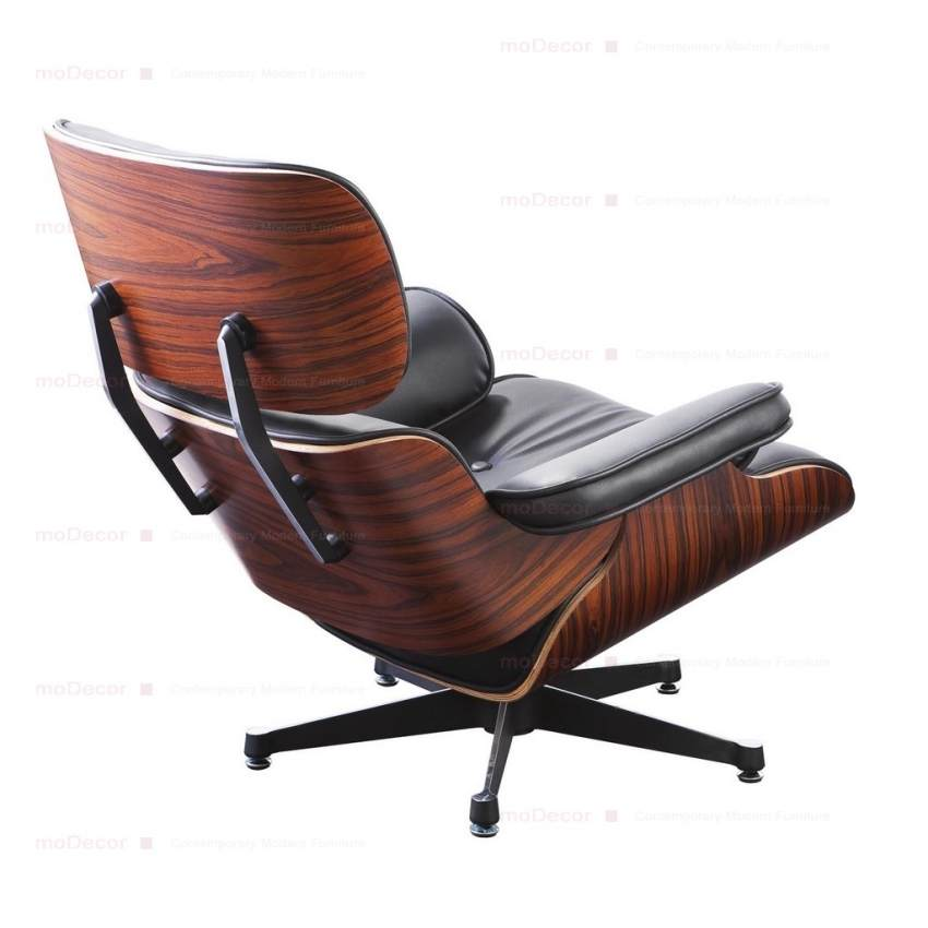 Charles Eames Lounge Chair And Ottoman Black Reproduction British Shop Angielski Sklep